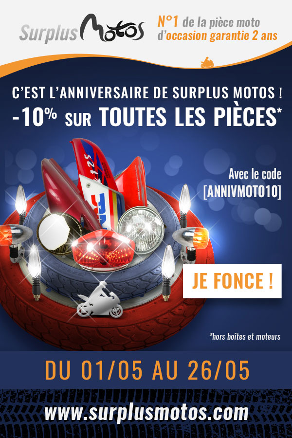 -10% Anniversaire Surplus Motos