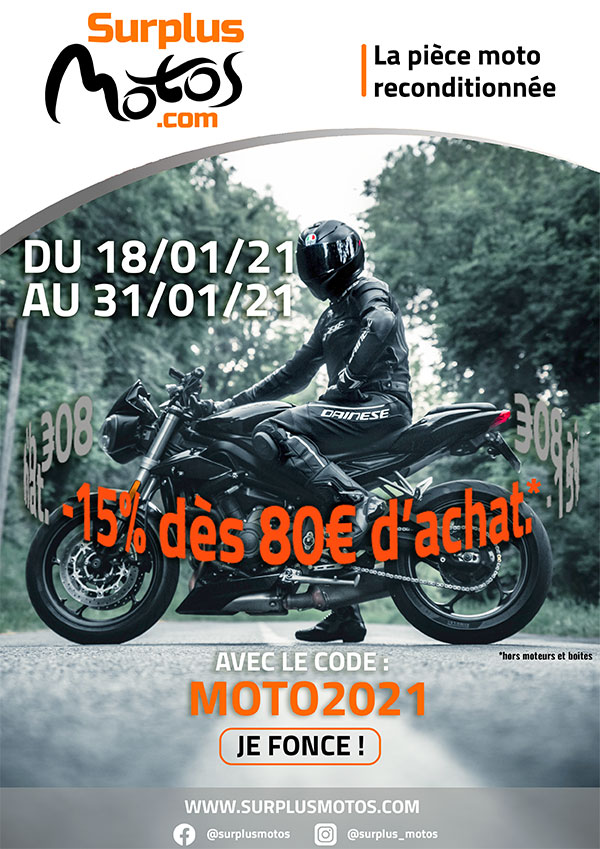 15% Surplus Motos 2021